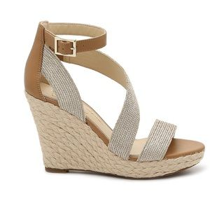 Jessica Simpson Espadrille Metallic Wedge Sandal